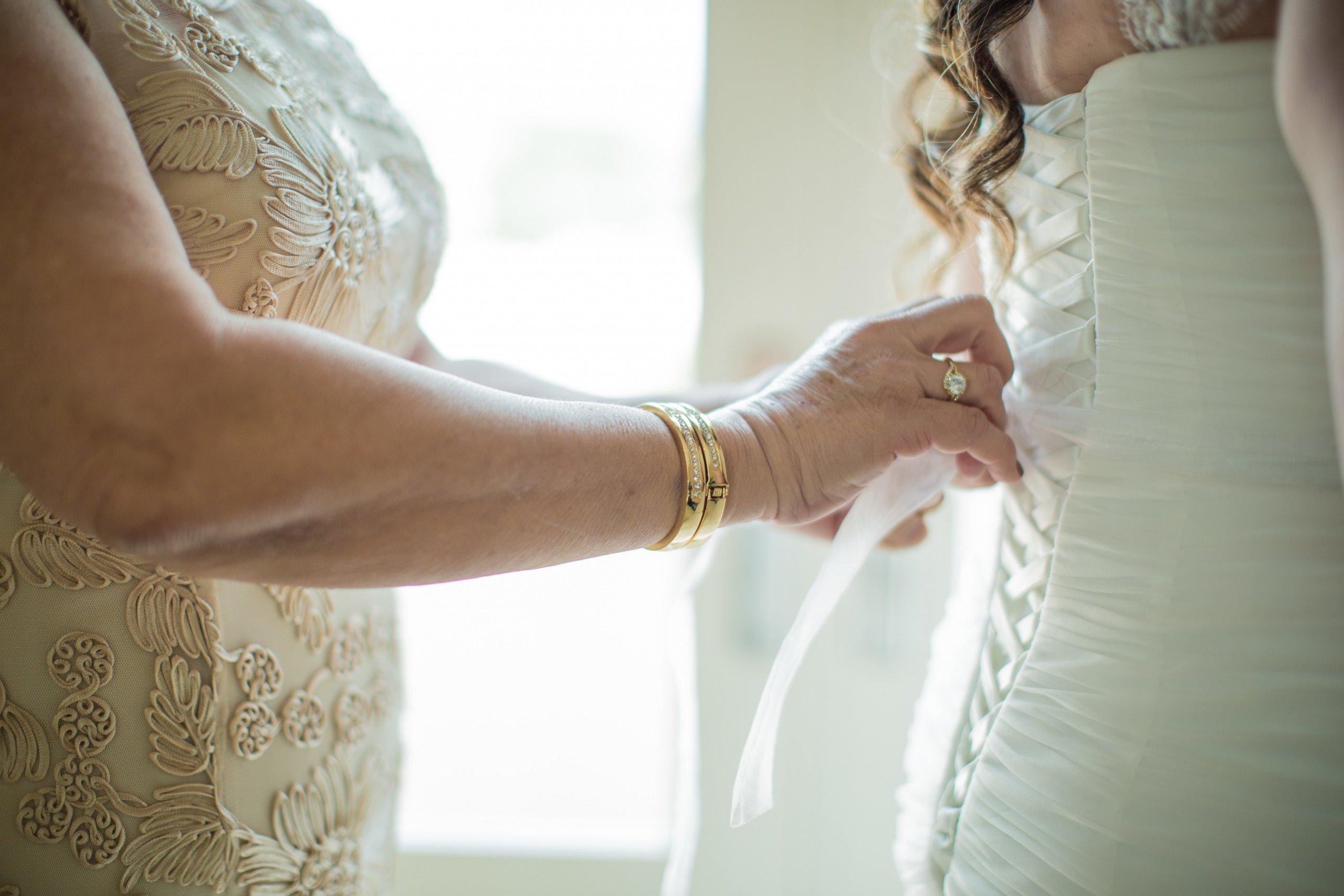 Tying a corset