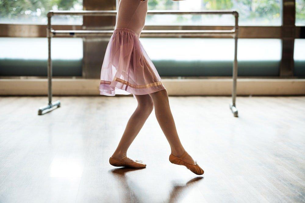 Woman practicing a ballet dance